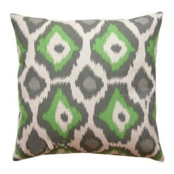 5 Surry Lane - Green Animal Print Pillow - Are the animals running your zoo? This green animal print will make you feel OK if that's the case. Classic and classy, your furniture will fight for the right to display a pair of these in their corners.