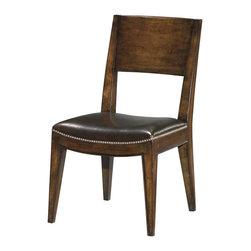 EuroLux Home - 6 New Dining Chairs Wood Brown TopGrain - Product Details