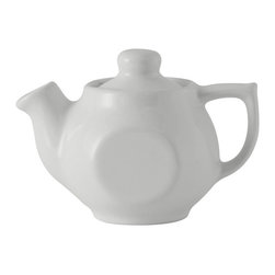 Tuxton - DuraTux 10 oz Tea Pot with Lid White - Case of 12 - Our plates and dishes are designed to combine with insulated domes bases and other innovative food systems for extended heat retention.