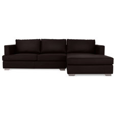 Modern Sectional Sofas Westminster Brown Sectional Couch (L)