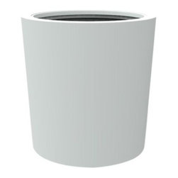 """Decorpro - Decorpro D12002-5E-6 Vienna Planter - Light Grey - Decorpro D12002-5E-6 Vienna Planter - Light Grey. The Vienna planter is a more traditionally shaped pot. The round shape allows this planter to fit in with a wide variety of settings both indoors and outdoors. Made from a non-toxic food grade polymer based polymer based fiberglass resin, these contemporary planters will never rot, mildew, split, cup or warp. This material offers an unparalleled combination of uniformity, durability and beauty. These modern outdoor planters are available in our standard colours or you have the option of selecting a custom colour. Decorpro planters meet all your performance and durability requirements. Whether exposed to salt water the rough and tumble of everyday wear and tear of home or commercial use, our gel coats maintain a beautiful finish no matter how tough the conditions get. Specifications: Product Dimensions (IN): DIA 30"""" X H 30.75"""". Product Weight (LB): 45. Product Dimensions (CM): DIA 76.2 X H 78.1. Product Weight (KG): 20.4. Colour: Light Grey."""