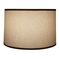 """Mathews & Company - Natural Linen 16"""" Drum Floor Lamp Shade - Our Contemporary style Natural Linen 16"""" Drum Floor Lamp Shade is a beautiful piece of hand-crafted accent for any lamp base."""
