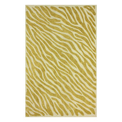 nuLOOM - Animal Prints Contemporary 5' x 8' Gold Hand Hooked Area Rug Cotton Zebra Print - Made from the finest materials in the world and with the uttermost care, our rugs are a great addition to your home.