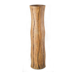 Timber Vase, Large - Handcrafted clay pottery