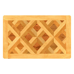 Bungalow Flooring - Fo Flor 2'x3' Faux Wood Mat, Parquet Floor - Woven polyester face captures colors and graphics in near photographic quality.