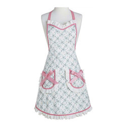 Jessie Steele - Jessie Steele Apron Bella Bows - Jessie Steele's kitchen accessories: Bake or Cook with this stunning Bella Bows Bib Apron. Featuring side pockets adorned with Pink Bows and flirty ruffles.