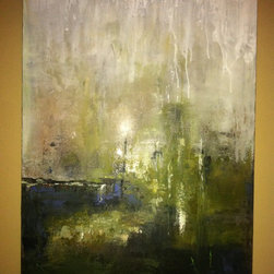 "Original art for sale by artist - Original Painting on stretched canvas - This is a 32"" x 40"" original painting. It is a great complement to most any décor.  Colors are earthy."