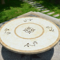 "Livingroc - 63"" Large round mosaic dining table - LUXOR -"