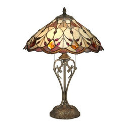 Dale Tiffany - Dale Tiffany TT70699 2 Light Marshall Table Lamp - Traditional / Classic 2 Light Marshall Table Lamp with Art Glass ShadeFeatures: