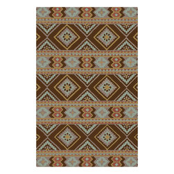 Surya - Surya Albuquerque ALQ-403 (Cream) 8' x 11' Rug - Southwestern style is reinterpreted in the Albuquerque Collection. Plush hand-tufted wool and sophisticated colors brings a softer take to this classic American style. At home in a ranch house in Texas or a cottage in Maine, Albuquerque brings a versatility to the popular aesthetic.