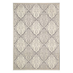 """Nourison - Nourison Graphic Illusions Transitional Trellis Ivory 3'6"""" x 5'6"""" Rug by RugLots - Striking, bold patterns define this alluring collection of tantalizing rugs. Featuring an exciting hand-carved, high-low texture and contemporary color palette, these attractive area rugs will add a distinctive flair to any setting. Indulge the senses and make a bold statement with these durable and captivating creations for the floor."""