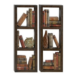 Benzara - Library Metal Wall Decor Sculpture Set of 2 - Library metal wall decor sculpture Set of 2. Classic steel metal piece for any home decor. Catch the new trend in home furnishing