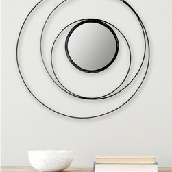 Safavieh - Safavieh Inner Circle Black Mirror - All eyes will be on your wall when it is playing host to this contemporary round black mirror. This mirror has a modern edge with a unique design that will get your wall the attention it craves. It is made with iron and medium-density fiberboard.