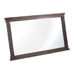 Zuo Modern - Zuo Modern The City Era Bedroom Mirror X-01289 - Our City mirror is neoclassically inspired. Frame is solid Elmwood.