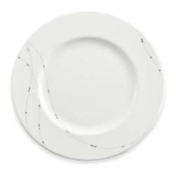 Lenox - Simply Fine Lenox Twirl 9 1/4-Inch Salad Plate - Dress up your table without being overly formal. Jewelry-like strands studded with platinum beads are draped over each piece in this fine bone china place setting.