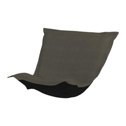 Howard Elliott - Sterling Charcoal Puff Chair Cushion - Extra Puff Cushions in Sterling are a great way to get a fresh new look without the expense of buying a whole new chair! Puff Cushions fit scroll & rocker frames. This Sterling cushion features a linen-like texture in a deep sultry charcoal grey.
