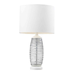 Dimond Lighting - Dimond Lighting HGTV125 HGTV Home Clear and White Glass Table Lamp - Dimond Lighting HGTV125 HGTV Home Clear and White Glass Table Lamp
