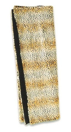 """Canaan - Faux Fur Leopard Print Throw Blanket - Faux fur leopard print throw blanket with soft liner. Measures 50"""" x 60"""". These are custom made in the U.S.A and take 4-6 weeks lead time for production."""