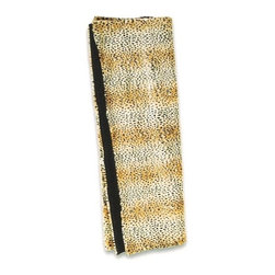 "CCCC-B-1003L - Faux Fur Leopard Print Throw Blanket - Faux fur leopard print throw blanket with soft liner. Measures 50"" x 60"". These are custom made in the U.S.A and take 4-6 weeks lead time for production."