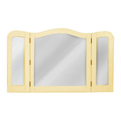 EuroLux Home - Mirror Yellow Painted Hardwood Tri-Panel - Item #: TW-964