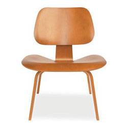 Eames® Molded Plywood Lounge Chair, Cherry Stain Wood Leg - If I owned an Eames piece, it would be this one. Who wants to foot the bill for me?