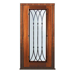 "Prehung Entry Single Door 80 Mahogany Warwick Full Lite Wrought Iron - SKU#    P09662WW-G-WPFW1WBrand    GlassCraftDoor Type    ExteriorManufacturer Collection    Full Lite Entry DoorsDoor Model    WarwickDoor Material    WoodWoodgrain    MahoganyVeneer    Price    2385Door Size Options      +$percent  +$percentCore Type    Door Style    Door Lite Style    Full LiteDoor Panel Style    Home Style Matching    Door Construction    PortobelloPrehanging Options    PrehungPrehung Configuration    Single DoorDoor Thickness (Inches)    1.75Glass Thickness (Inches)    Glass Type    Double GlazedGlass Caming    Glass Features    Low-E , TemperedGlass Style    Glass Texture    Water , Flemish , Baroque , Fluted , Rain , Glue Chip , ClearGlass Obscurity    Light Obscurity , Moderate Obscurity , Highest Obscurity , No ObscurityDoor Features    Door Approvals    Wind-load Rated , FSC , TCEQ , AMD , NFRC-IG , IRC , NFRC-Safety GlassDoor Finishes    Door Accessories    Weight (lbs)    310Crating Size    25"" (w)x 108"" (l)x 52"" (h)Lead Time    Slab Doors: 7 Business DaysPrehung:14 Business DaysPrefinished, PreHung:21 Business DaysWarranty    One (1) year limited warranty for all unfinished wood doorsOne (1) year limited warranty for all factory?finished wood doors"