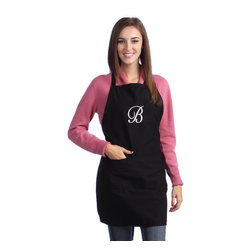 None - Monogram Letter Apron - This fun and functional kitchen apron features a custom monogram design and an adjustable strap for comfort. This stylish apron is sure to make a great personalized host/hostess gift at your next dinner party or function.