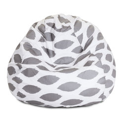 Indoor Storm Gray Alli Small Bean Bag