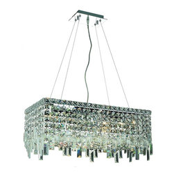 Elegant Lighting - Elegant Lighting 2035D24 Maxim 6 Lights Chandelier - The unique design of the Maxim Collection inspires any room setting. Dazzling spectacles of light sparkles throughout the fixture creating a modern, yet timeless beauty and elegance.