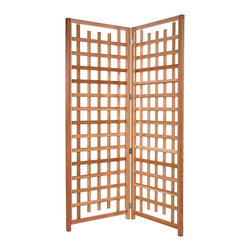 All Things Cedar - 2pc. Trellis Screen Set - This set includes 2 panels plus hinges which can be joined toether to act as a deck divider or privacy screen Item is made to order.