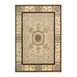 Nourison - Nourison Versailles Palace Oriental Scrolls Beige 8' x 11' Rug by RugLots - Fit for royalty, as the name suggests! This collection features stunningly elegant designs inspired by 18th Century French carpets and handmade with intriguing articulation from the highest quality wool. Features a dense, luxurious pile and hand-carved for added dimension with delicate accents that are a pleasure to both look at and touch.