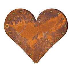 Retro Heart Light, Rust - Looking to add some inspiration to your lighting? This retro marquee letter light catches the eye on its own, and also hangs happily with other letters to form initials, a message, or a beautifully random jumble. Handcrafted from rusty metal, each piece has the look and feel of a vintage piece while carrying the quality of brand-new lighting. Whether leaning against a wall or hung up high, this ruddy-hued work of art illuminates any space it touches.