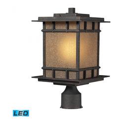 ELK Lighting - One Light Weathered Charcoal Post Light - One Light Weathered Charcoal Post Light