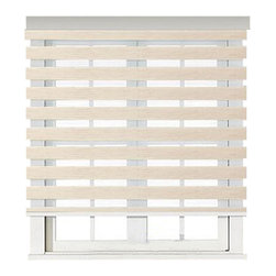 "Blinds-US - Roller Zebra Blind / Light filtering sheer shade, Natural, 64""in W X 72""in L / 1 - Product Description"