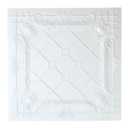 Renovators Supply - Ceiling Tiles White Polymer Ceiling Tile 23 3/4in.sq. - Ceiling Tile. Easy-to-install polymer ceiling tiles can be nailed, stapled, glued or dropped into any kind of ceiling. Get the period effect by using as is or by painting to suit your decor. Leave white or paint as desired. Each tile is 23 3/4 in. square.