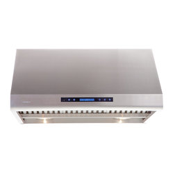 "Atlas International Inc - Range Hood 30"" - Cavaliere, Under Cabinet - Cavaliere Stainless Steel 360W Under Cabinet Range Hood with 4 Speeds, Timer, LCD Keypad, Stainless Steel Baffle Filters, Heat Lamps & Halogen Lights."