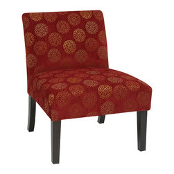 Office Star - Office Star Avenue Six Laguna Chair in Blossom Wine - The Laguna series chair adds sophistication to any room. The chairs are covered in high performance easy care fabrics with Dacron wrapped foam cushions. Solid wood legs for durability complete the design.