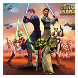 Franco Manufacturing Company INC - Star Wars Clone Wars Cuddly Wrap Throw Blanket - Features: