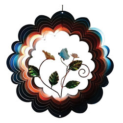 Great World - 12 Inch 3-D Spiral Wind Spinner with Butterfly Poly Figurine - This gorgeous 12 Inch 3-D Spiral Wind Spinner with Butterfly Poly Figurine has the finest details and highest quality you will find anywhere! 12 Inch 3-D Spiral Wind Spinner with Butterfly Poly Figurine is truly remarkable.