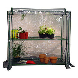 Jewett-Cameron Companies - Early Start 3-Shelf Workbench with Cover - Early Start 3-Shelf Workbench. Our Early Start 3-Shelf workbench provides essential working surface and includes a thermal cover, making it an ideal accessory for our weather guard Greenhouses.