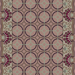 Surya - Surya Bordeaux BRD-6019 (Olive, Eggplant) 5' x 8' Rug - This Hand Tufted rug would make a great addition to any room in the house. The plush feel and durability of this rug will make it a must for your home. Free Shipping - Quick Delivery - Satisfaction Guaranteed