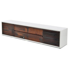 Modern Buffets And Sideboards Shipwood Dark Low Cabinet II