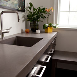 Concrete Countertop - This project won Best Kitchen 2011 Cheng Award. Photo by Andrew Pitzer.