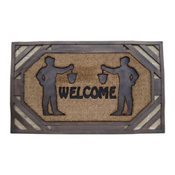 "A1 Home Collections - LIMITED EDITION Rubber And Coir ""Welcome"" Doormat. - Accent your doorway with this ultra chic and stylish doormat.Crafted of all natural rubber and coir this mat is an excellent decorative accent for your doorway and it also help remove dirt, debris, mud and moisture from your shoes."