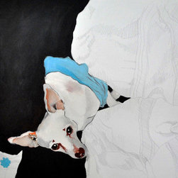 Mamba&Me: Day Off  (Original) by Rita Bolla - This is also a piece from my Mamba And Me series, painted and exhibited in New York City, 2010.