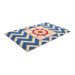 Entryways - The Wheel Non Slip Coir Doormat - This beautifully designed doormat will enhance your entry way or patio. It's made from the highest quality all natural coconut fiber with a PVC non slip backing.