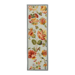 Safavieh - Safavieh Chelsea Country & Floral Hand Hooked Wool Rug X-82-D133KH - 100% pure virgin wool pile, hand-hooked to a durable Cotton backing. American Country and turn-of-the-century European designs. This collection is handmade in China exclusively for Safavieh.