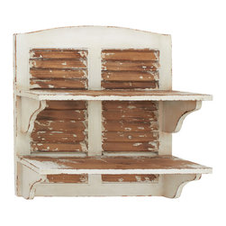 Double Decker Cool Wood Wall Shelf - Description: