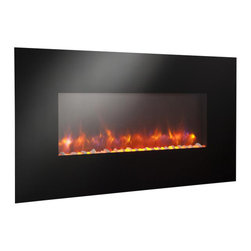 "Outdoor GreatRoom - Linear Gallery Wall Mount Electric Fireplace, 50"" Width - A line of linear electric fireplaces that are so mesmerizing and so unique, you won't believe your eyes. Choose from 13 backlighting colors or leave it off. Turn on the heat to warm your room. These striking, easy to hang electric fireplaces, are sure to add ambiance to any room: kitchen, bedroom, game room, living room and more!"