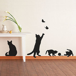 Cats and Kittens Wall Stickers - If you can't have pets in a rental property, then maybe cat and kitten stickers are the next best thing?
